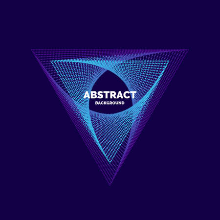Elegant abstract poster with colorful particle on a dark background. Vector illustration Illustration
