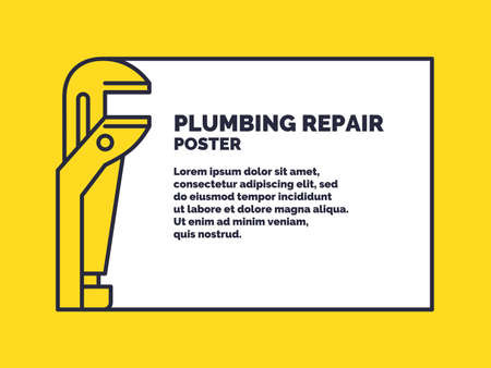 Plumbing service background. Vector stylish poster and illustration.