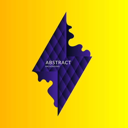 Abstract background with dynamic splash. Vector illustration in flat minimalistic style Banco de Imagens - 124921592