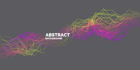 Vector abstract background with dynamic waves, line and particles. Illustration suitable for design Illustration
