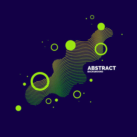 Vector abstract elements with dynamic waves. Illustration suitable for design Фото со стока - 122125823