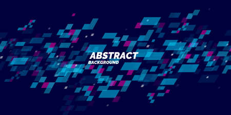 Abstract background with dynamic particles. Vector template for design. Vectores
