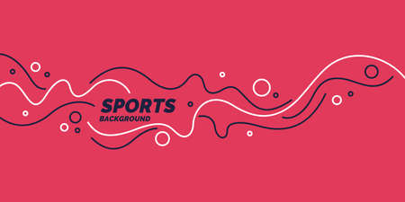 Abstract background with wavy lines in minimalist style. Vivid vector illustration for sports