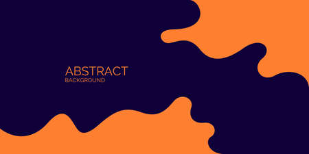 Bright poster with dynamic waves. Vector illustration in minimal flat style Ilustração