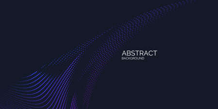 Vector abstract background with dynamic waves, line and particles. Illustration suitable for design Ilustração