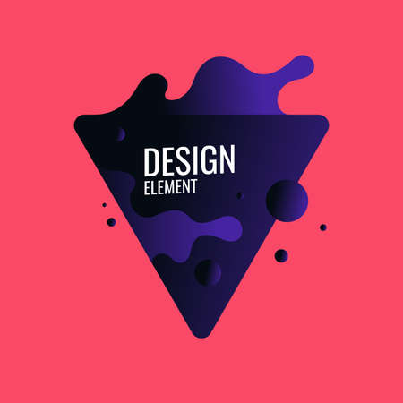 Abstract background with dynamic splash. Vector illustration in flat minimalistic style
