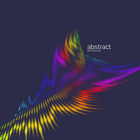 abstract background with dynamic waves, line and particles. Illustration suitable for design 向量圖像