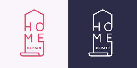 The emblem of home repair. Illustration for store advertising