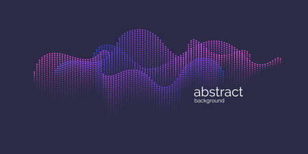 Vector abstract background with dynamic waves, line and particles. Illustration suitable for design 向量圖像