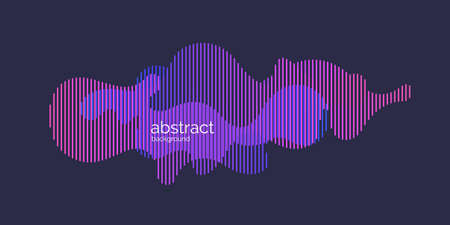 Vector abstract background with dynamic waves and lines. Illustration suitable for design