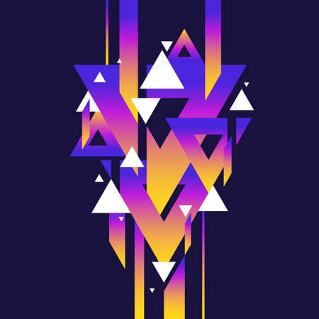 Abstract geometric background with triangles in minimalistic style. Vector illustration.