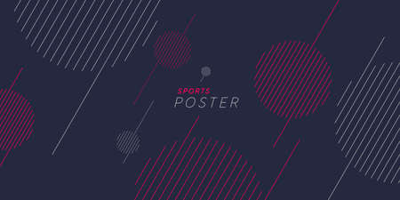 Sports poster. Abstract background with dynamic shapes. Vector template for design.