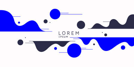 Poster with dynamic waves. Vector illustration in minimal flat style. Abstract background. Иллюстрация