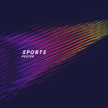 Modern colored poster for sports. Vector illustration Иллюстрация