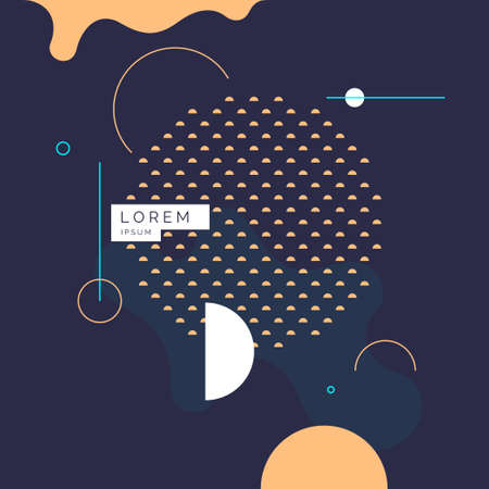 Poster with geometric shapes. Vector illustration in minimal flat style. Abstract background. Illusztráció