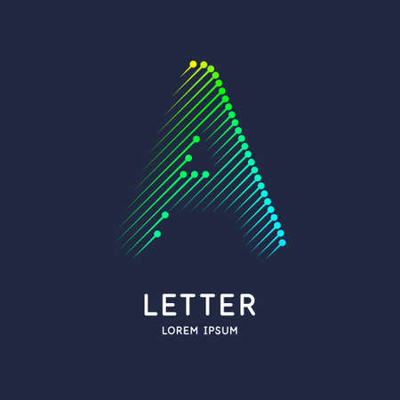 The letter A of the Latin alphabet. Display character in a bright contemporary style.