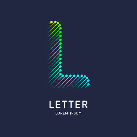 The letter L of the Latin alphabet. Display character in a bright contemporary style.