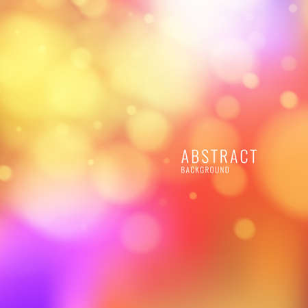 Abstract background with blurred shapes and soft light. Vector illustration Illustration