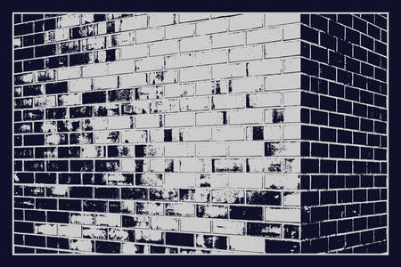 The texture of the wall with stonework of the correct rectangular shape. Bricks laid in rows fill the background. Vector illustration. Banco de Imagens - 139722386