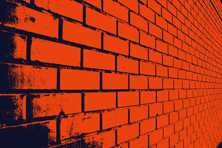 The texture of the wall with stonework of the correct rectangular shape. Bricks laid in rows fill the background. Vector illustration.