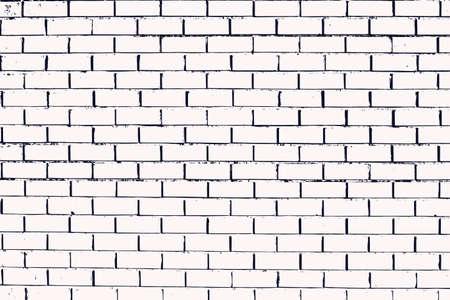 De textuur van de muur met metselwerk van de juiste rechthoekige vorm. Bakstenen die in rijen zijn gelegd, vullen de achtergrond. Vector illustratie.