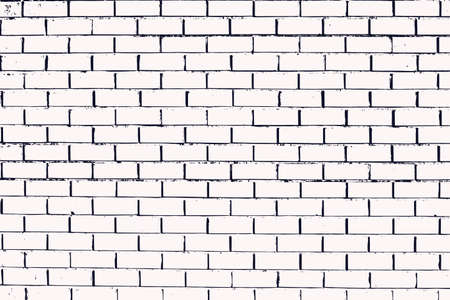 Faktura ściany z kamieniarką o prawidłowym kształcie prostokąta. Cegły ułożone w rzędy wypełniają tło. Ilustracja wektorowa.