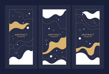 A set of modern backgrounds with abstract elements and dynamic shapes.