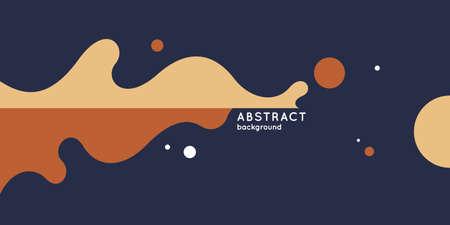 Bright poster with splatter. Illustration minimal flat style Çizim