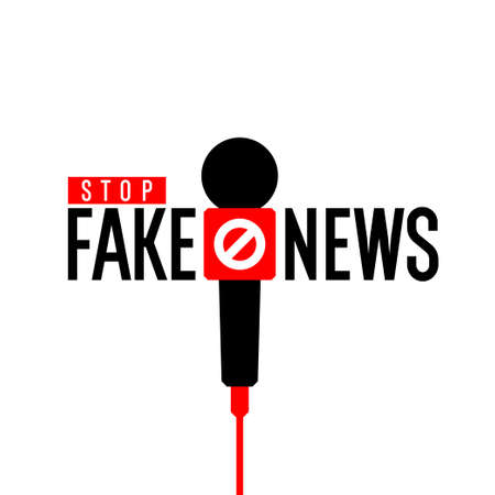 Stop fake news. Minimalistic poster for your design. Vector illustration.
