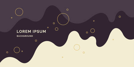 Trendy abstract background. Composition of amorphous and geometric forms. Vector illustration