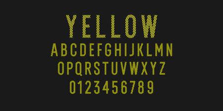 Modern alphabet font. Capital letters of the Latin alphabet. Vector symbols. Çizim