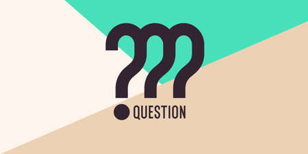 A poster with a picture of a question mark. Frame for placing your text and design.