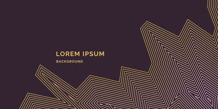 Modern backgrounds with abstract elements and dynamic shapes. Compositions of color lines. Vector illustration. Template for design and creative ideas.