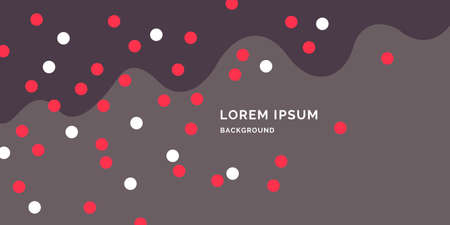 Modern backgrounds with abstract elements and dynamic shapes. Compositions of colored spots. Vector illustration. Template for design and creative ideas. Çizim