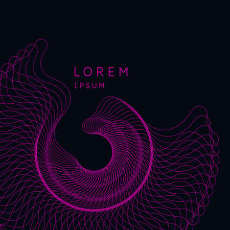 Bright poster with dynamic waves. Vector illustration.