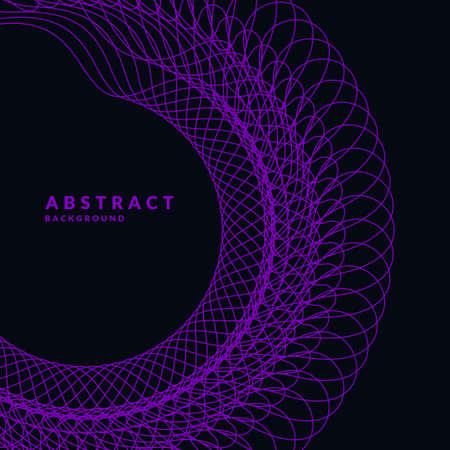 Abstract element with dynamic lines. illustration in flat minimalistic style