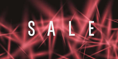 Sale banner. Original poster for discount. Neon glow against a dark background.