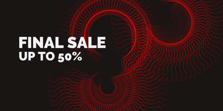 Sale banner. Dotted particles on a dark background. Vector illustration Illustration