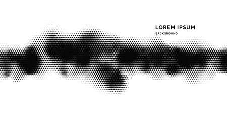 Monochrome printing raster. Abstract halftone background. Black and white texture of dots.