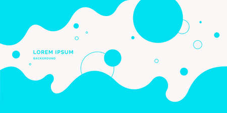 Poster with dynamic waves. illustration in minimal flat style. Abstract background. Illustration