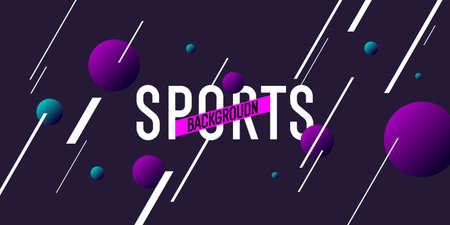 Abstract geometric background. Sports poster with the flat figures.