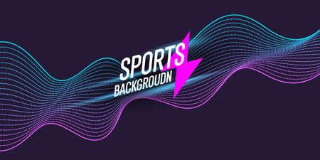 Colored poster for sports. Illustration suitable for design Standard-Bild
