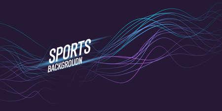 Colored poster for sports. Illustration suitable for design Illustration
