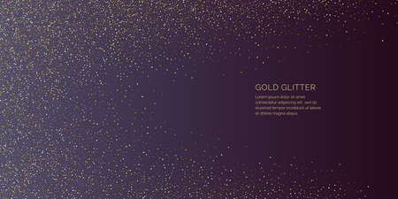 Background with gold glitter to place the inscription. Illustration