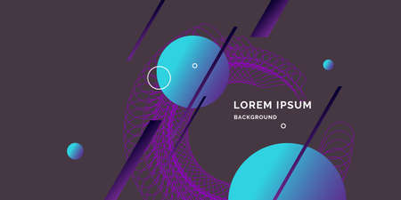 Trendy abstract art geometric background with flat style. Illustration