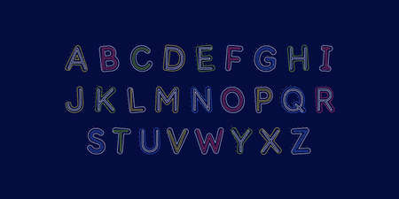 Modern alphabet font. Capital letters of the Latin alphabet.