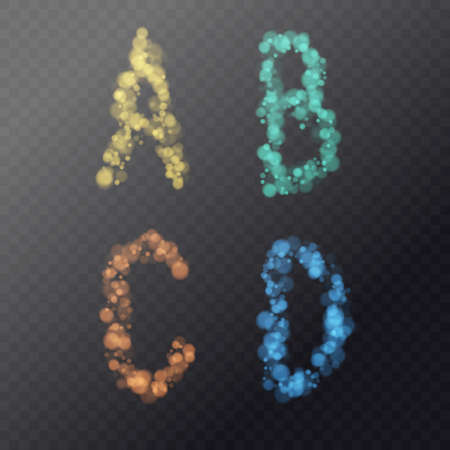 Modern alphabet font. Capital letters of the Latin alphabet.