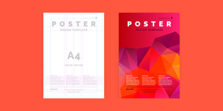 Poster template for business and cover modern journal.