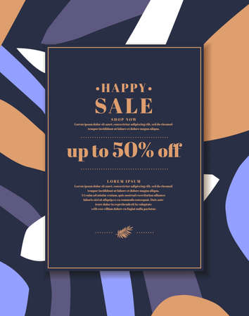 Original concept of the discount sale poster. Sale banner. A template for placing your information and text. Illusztráció