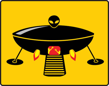 BBQ UFO Grill flat disigne vector illustration Vector